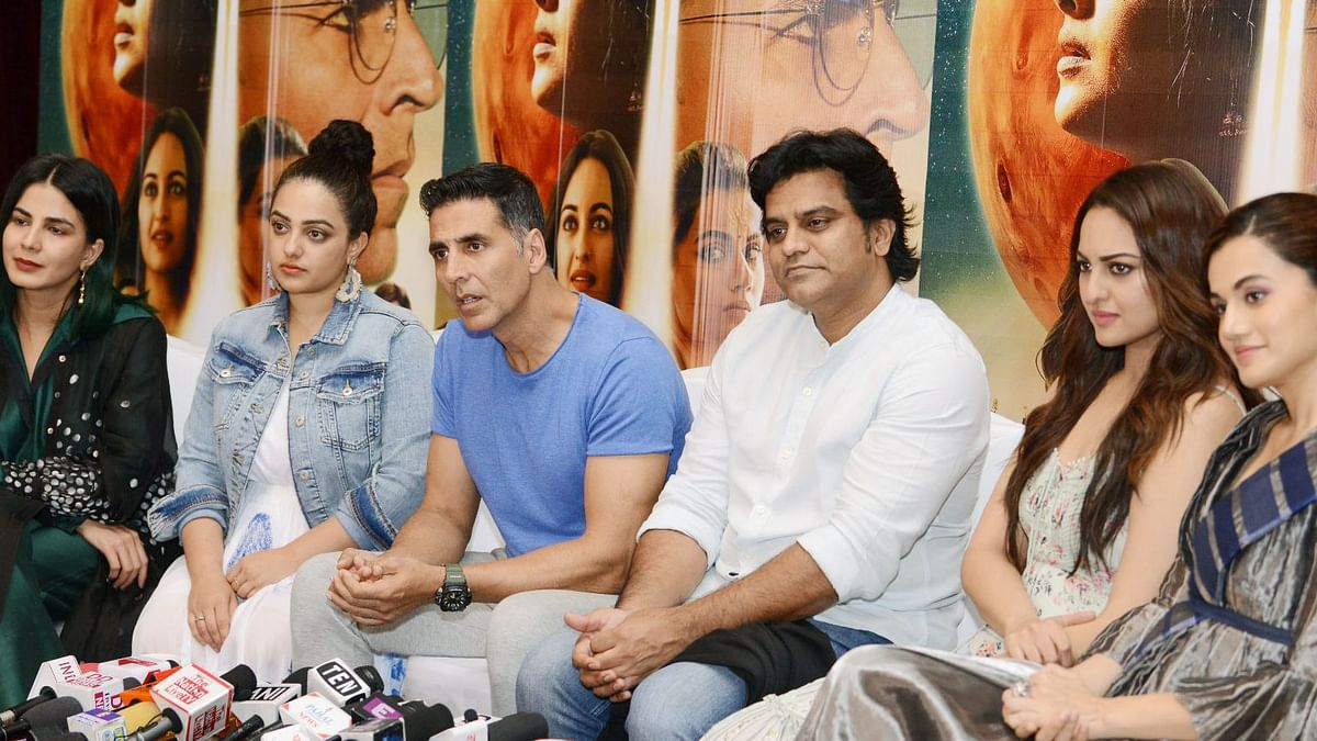 Team <i>Mission Mangal </i>at promotions in Delhi
