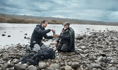 """Prime Minister Narendra Modi will appear in an episode of """"Man Vs Wild"""", the popular television programme on Discovery Channel, on August 12. Adventurer and television presenter Edward Michael Grylls, popularly known as Bear Grylls, will appear in the programme along with Modi. The programme, aimed at creating awareness about animal conservation and environmental change, will be aired at 9 p.m."""