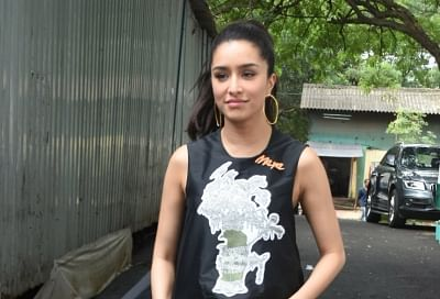 "Mumbai: Actress Shraddha Kapoor during the promotions of her upcoming film ""Chhichhore"" in Mumbai, on Aug 17, 2019. (Photo: IANS)"