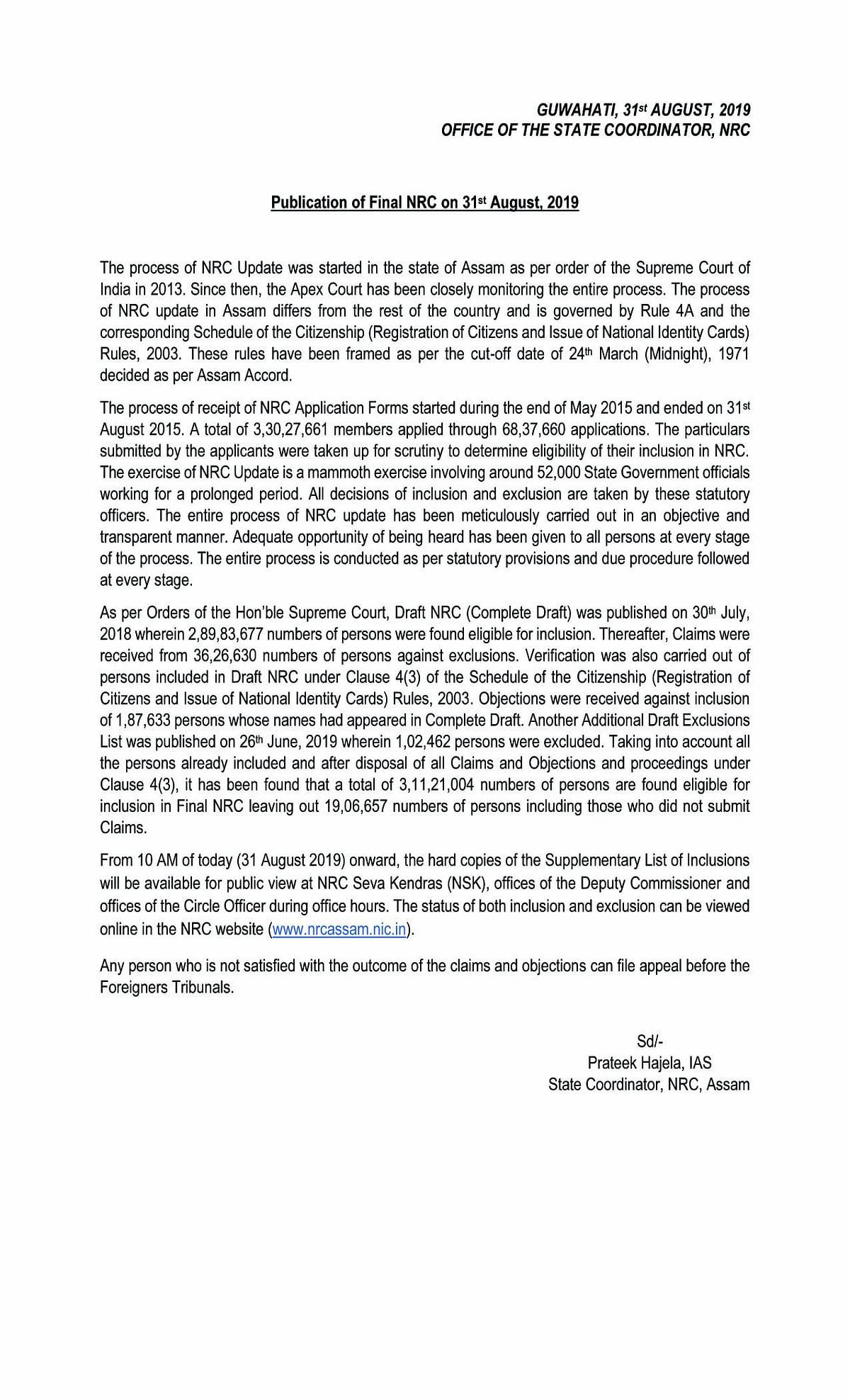 Assam NGO Demands CBI Probe on NRC Funds