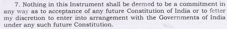 Paragraph 7 of the Instrument of Accession of Jammu and Kashmir