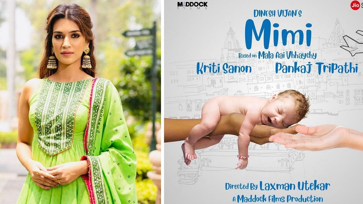Kriti Sanon shares the poster from her upcoming film <i>Mimi</i>.