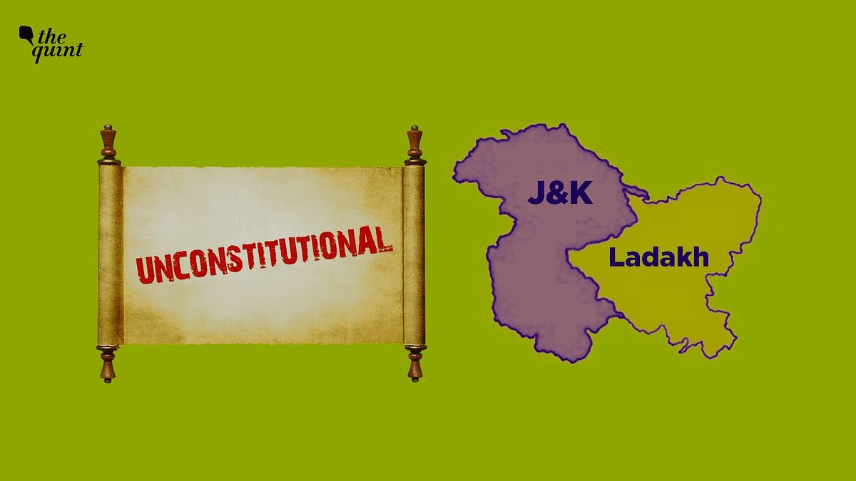 The J&K Reorganisation Act passed by Parliament violates India's federal structure.