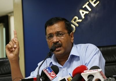New Delhi: Delhi Chief Minister Arvind Kejriwal addresses a press conference, in New Delhi on Aug 1, 2019. People living in the national capital will not have to pay any electricity bill for consuming upto 200 units of power, the Delhi CM announced on Thursday. (Photo: IANS)