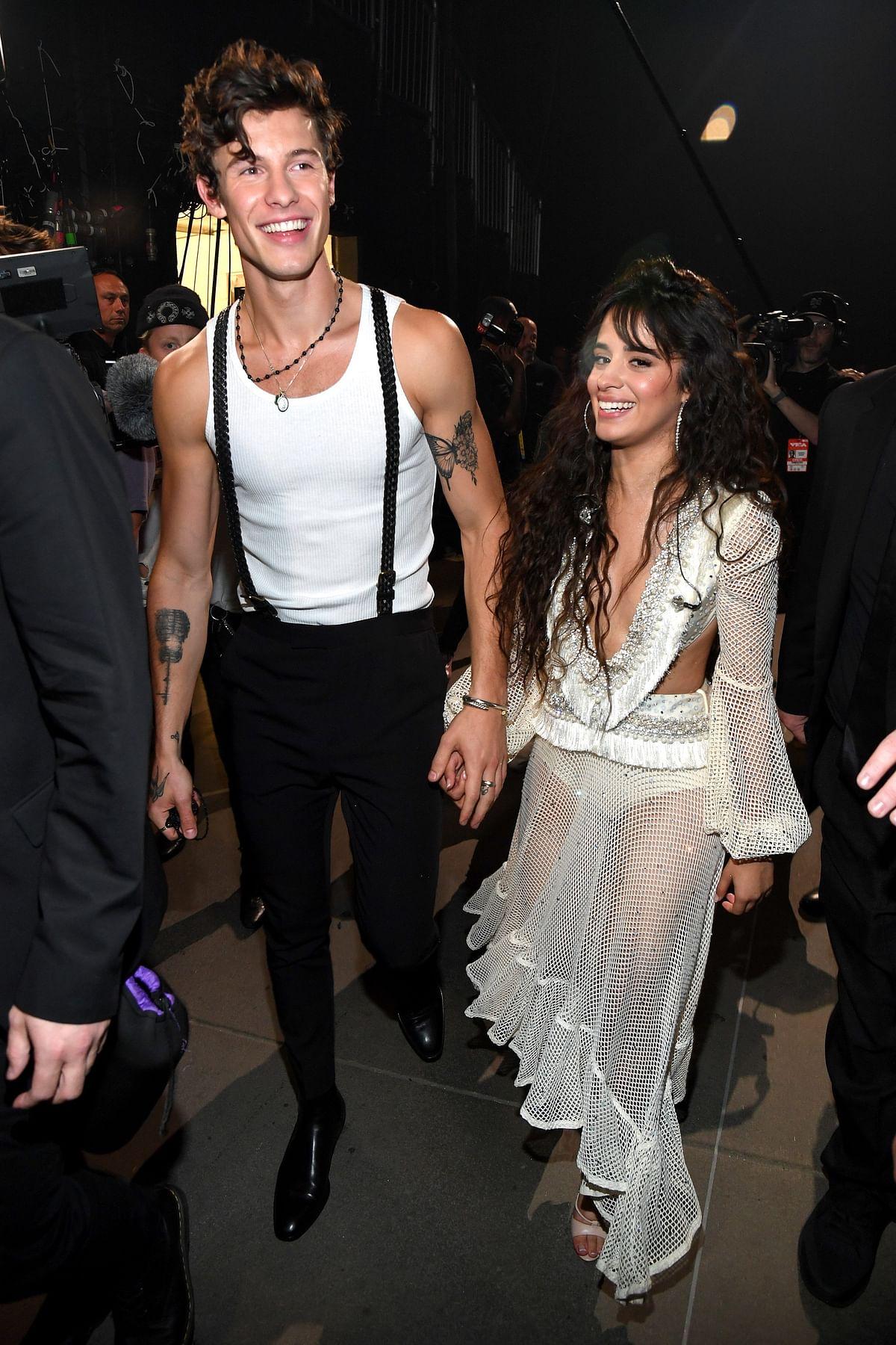 Shawn Mendes & Camila Cabello at the MTV Video Music Awards.