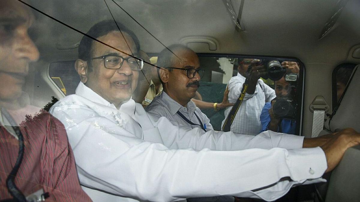 P Chidambaram being taken to CBI court on 21 August 2019.