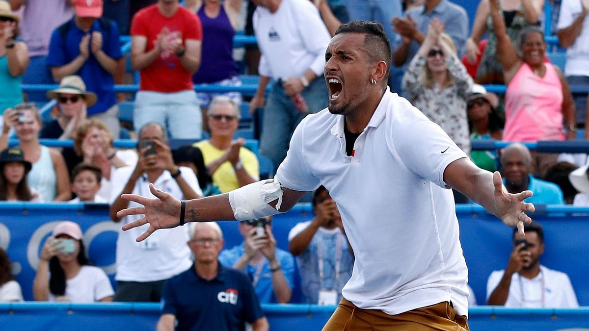 Nick Kyrgios was fined $113,000 by the ATP for expletive-filled outbursts in which he smashed rackets.
