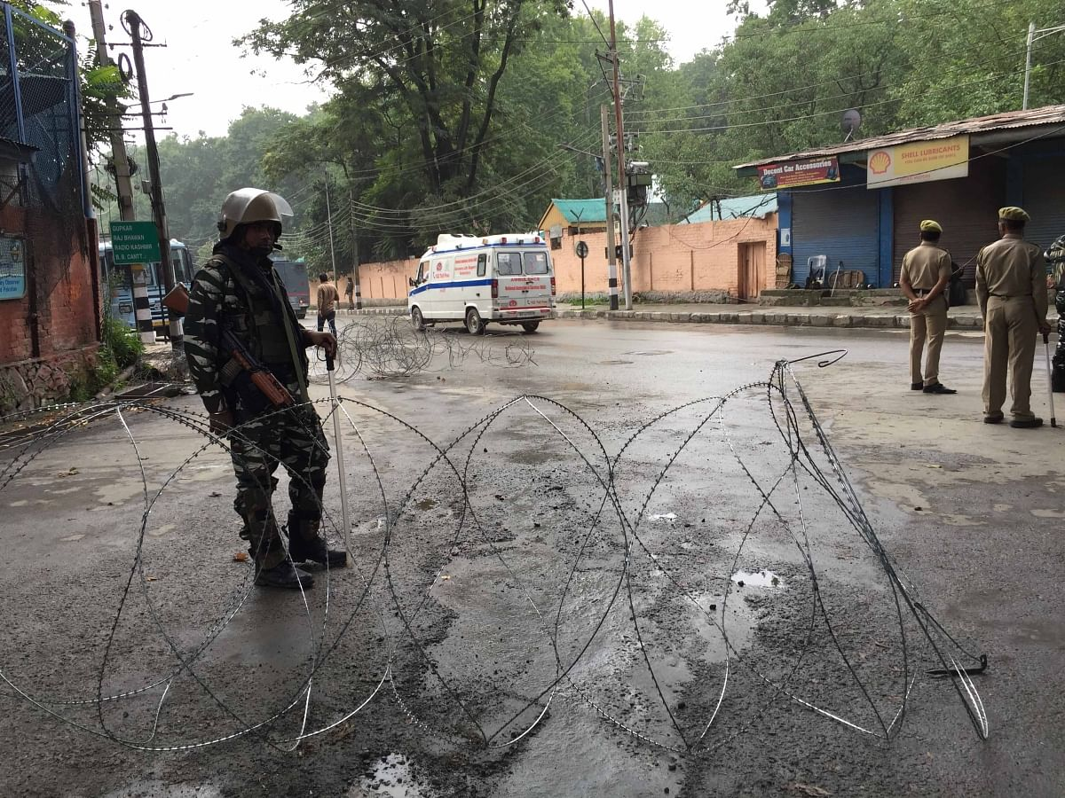 Strict security conditions have been imposed throughout the Kashmir Valley.