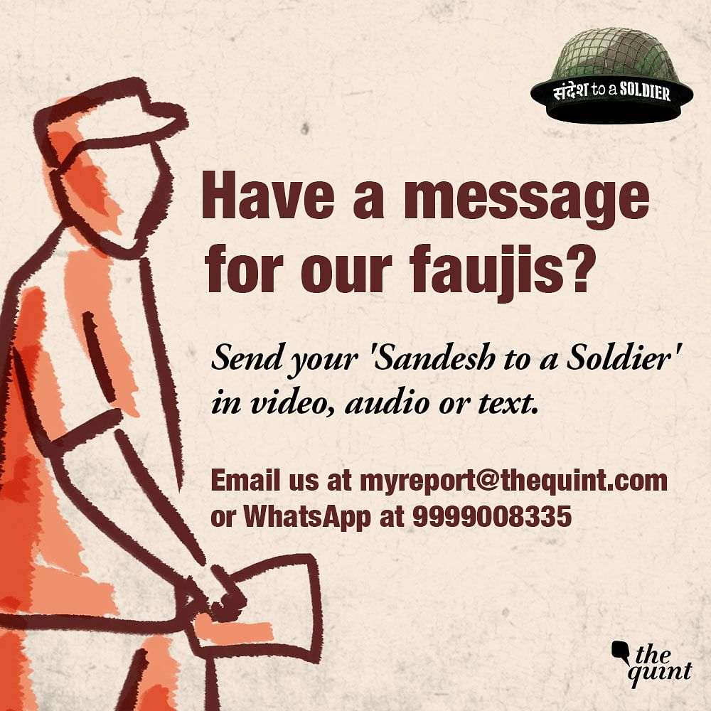 Dear Soldier, Thank You for Looking After Our Nation