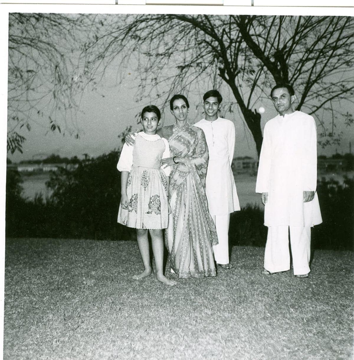 The Sarabhai Family (L to R): Mallika, Mrinalini, Kartikeya and Vikram