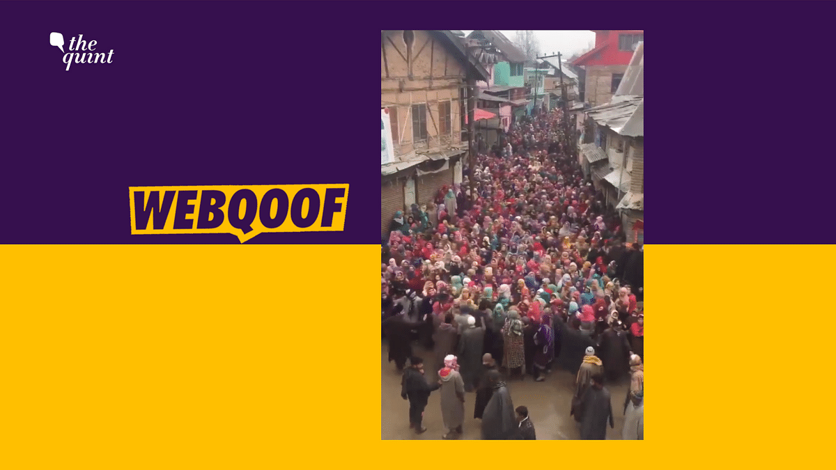 Article 370: Old Video Shared as Recent Women's March From Kashmir