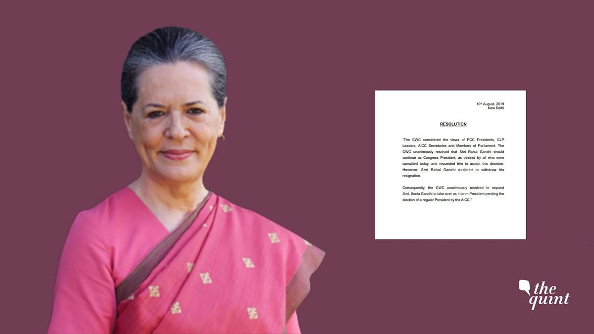 CWC Meet: 3 Resolutions Passed As Sonia Becomes Interim Chief