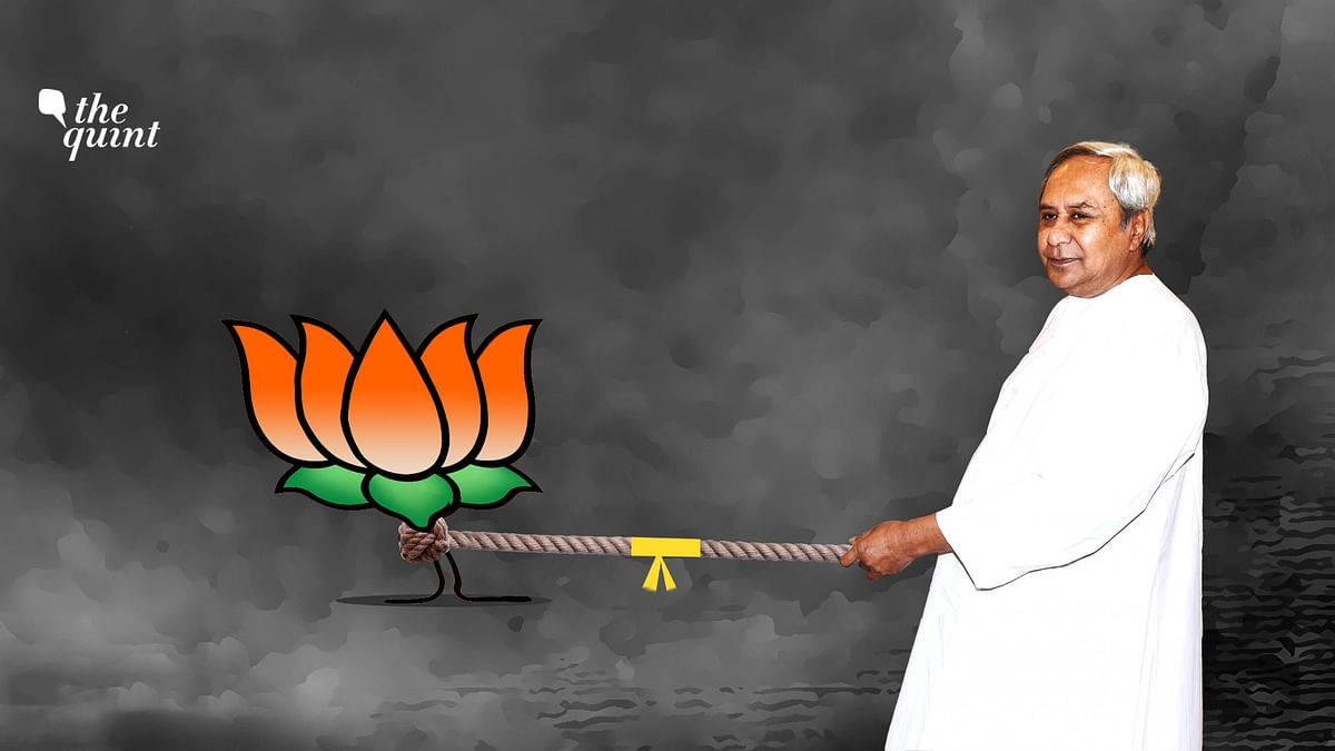 Image of Odisha CM Naveen Patnaik, and the BJP symbol in a tug-of-war, used for representational purposes.