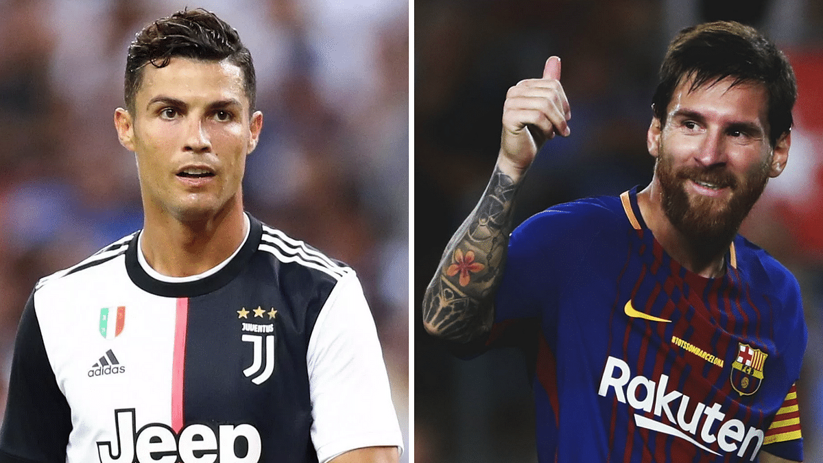 While Lionel Messi (right) made the donation to a hospital in Barcelona, Cristiano Ronaldo donated one million euros to fund intensive care units in hospitals in Lisbon and Porto.