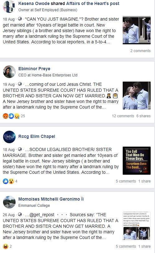 Screenshot of the viral claim on Facebook.