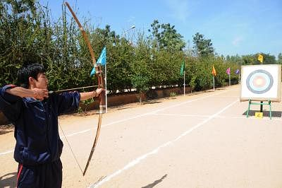 Indian archers have been training at Pune's Army Sports Institute.