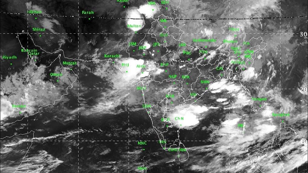 Satellite Image of the subcontinent in the last 24 hours