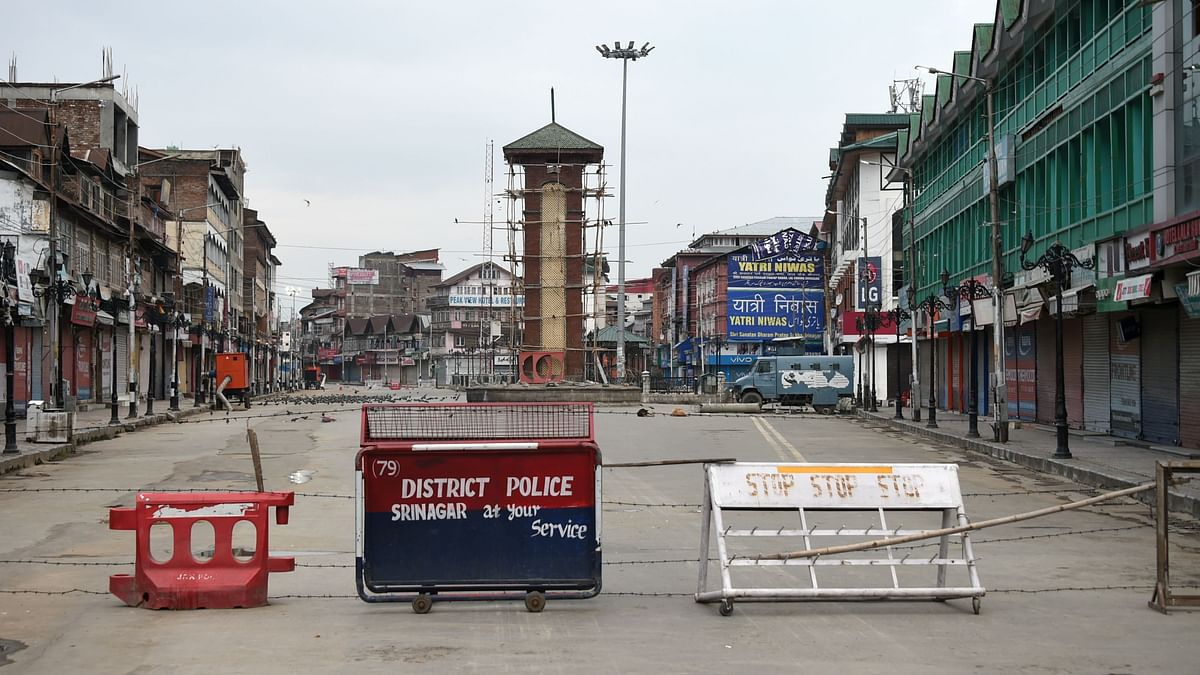 A view of the Lal Chowk  in Srinagar on 11 August. Image used for representational purposes.