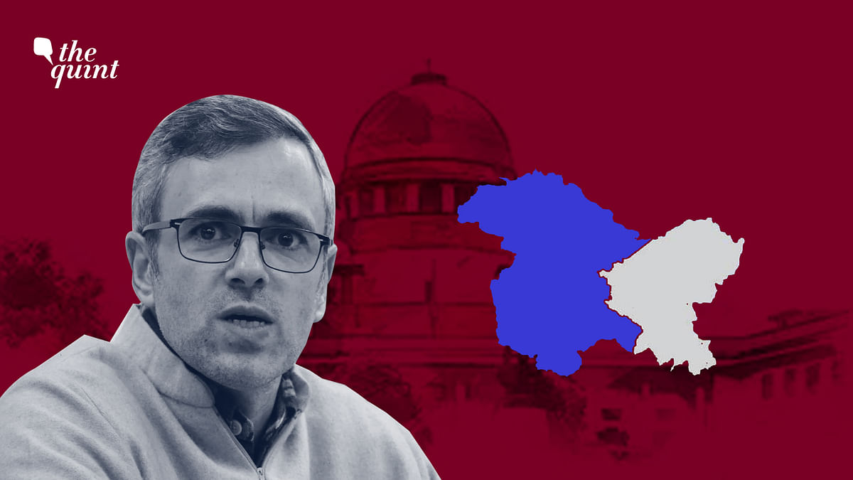 Omar Abdullah's (L) National Conference have challenged the government's moves in the Supreme Court.