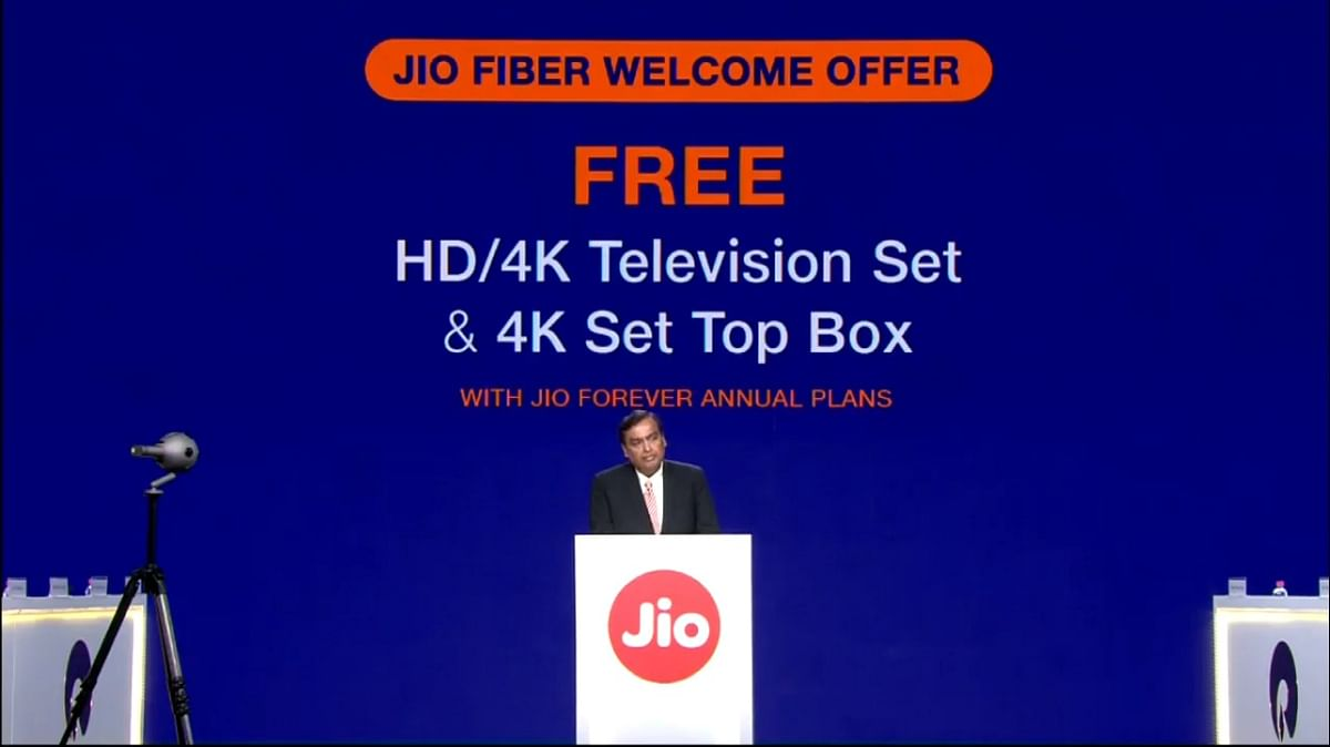More goodies for Jio Fiber users like a free 4K TV and set-top box.