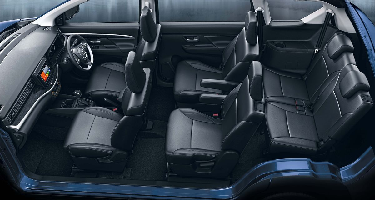 The six-seat layout of the Maruti Suzuki XL6.