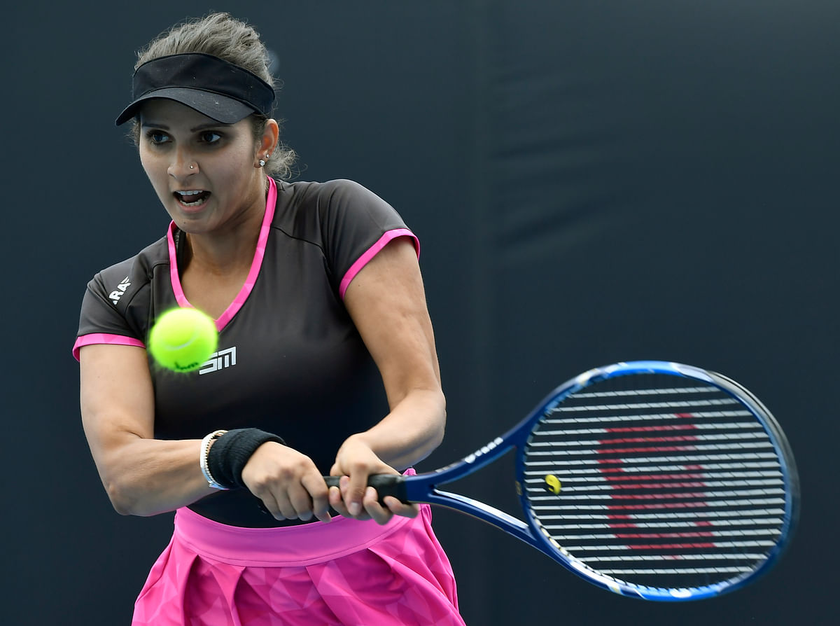 File picture of Sania Mirza in action.