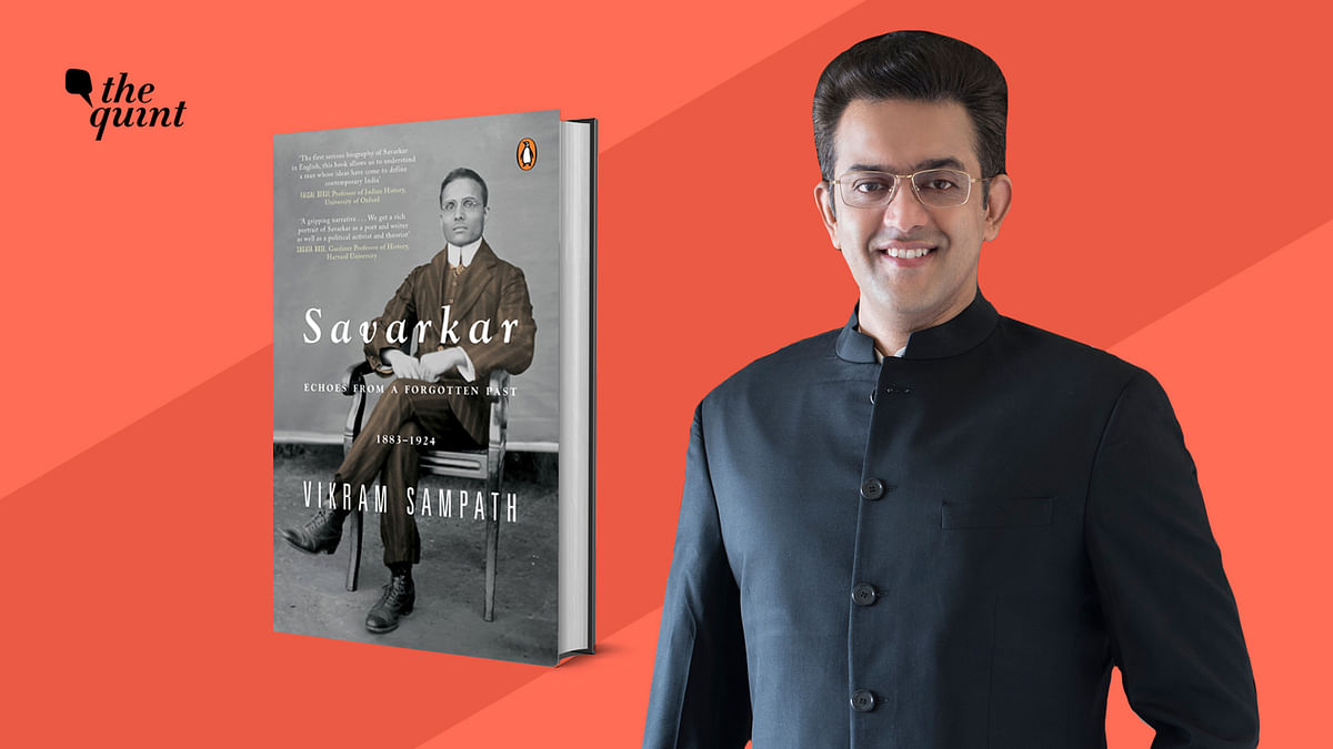 Image of the author of the latest book on Savarkar, Vikram Sampath, and the book cover, used for representational purposes.