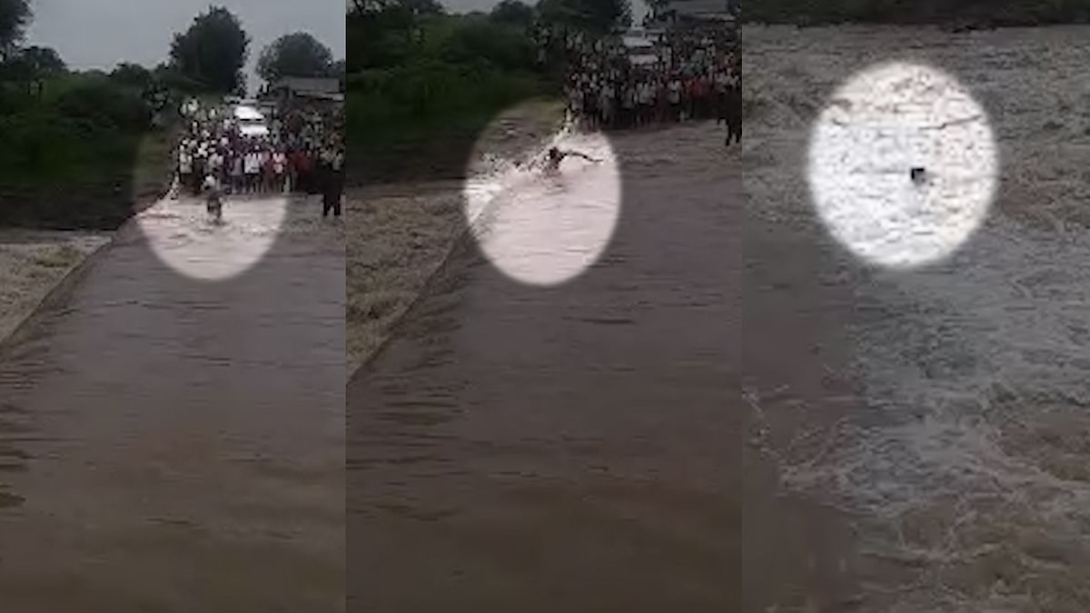 Youth Swept Away While Crossing a Bridge in MP's Khargone