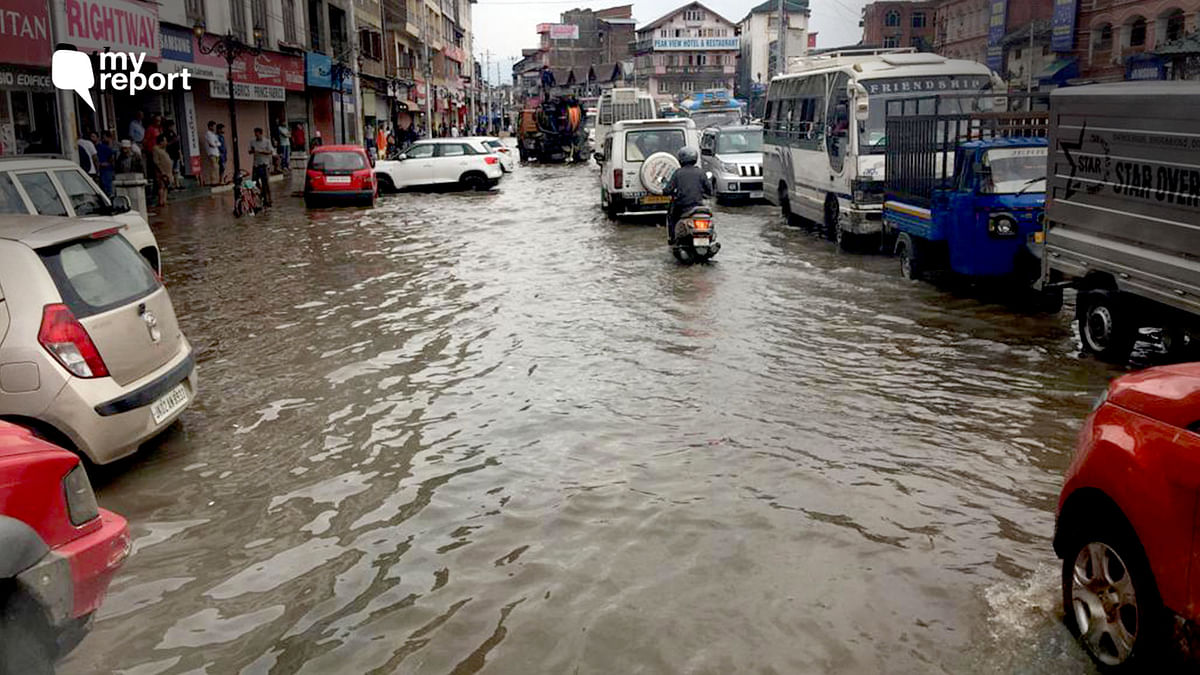 All it Takes is an Hour's Rain for Srinagar's Lal Chowk to Flood