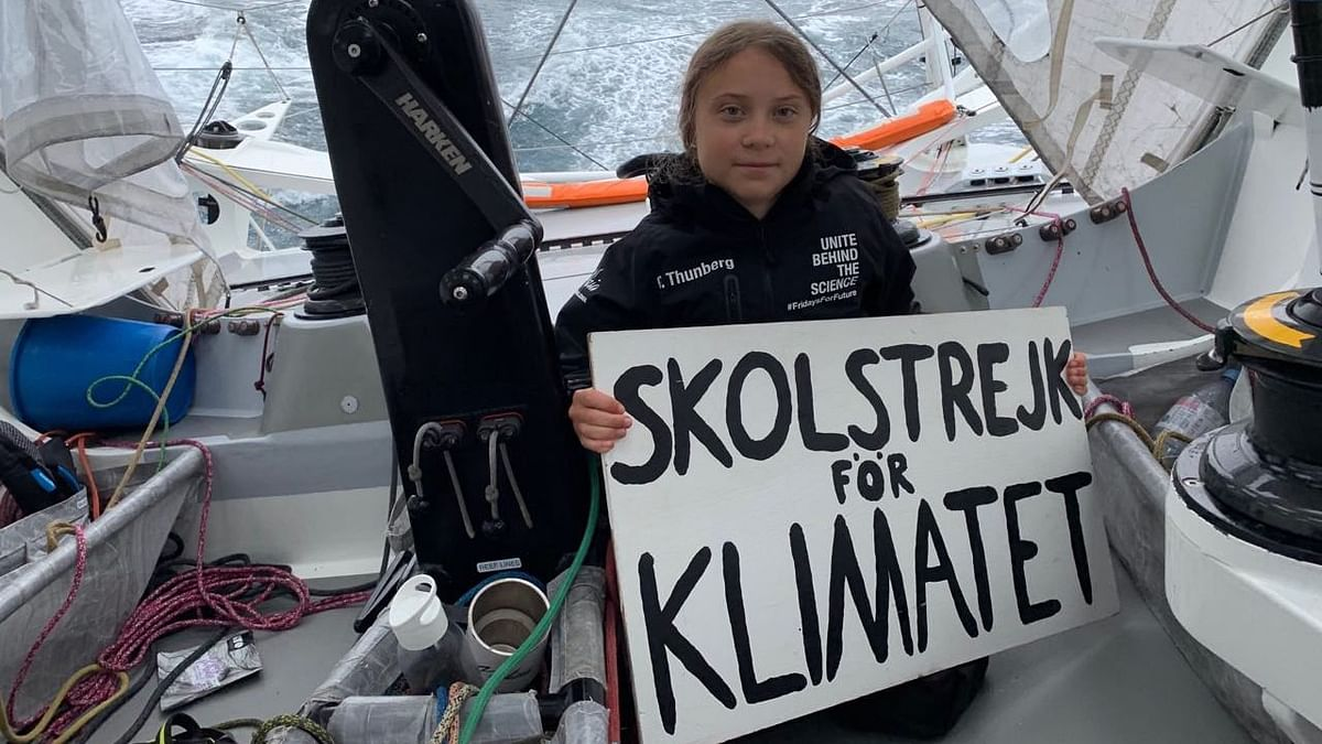 Climate Activist Greta Thunberg Sails Off UK Coast, Netizens React