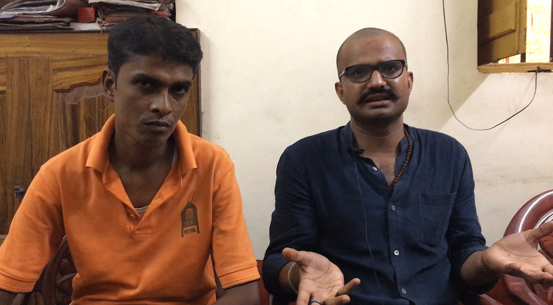 Bajrang Nath Verma (left) and Sanjiv Kumar Shukla, the BJP men behind the protest against Zomato.