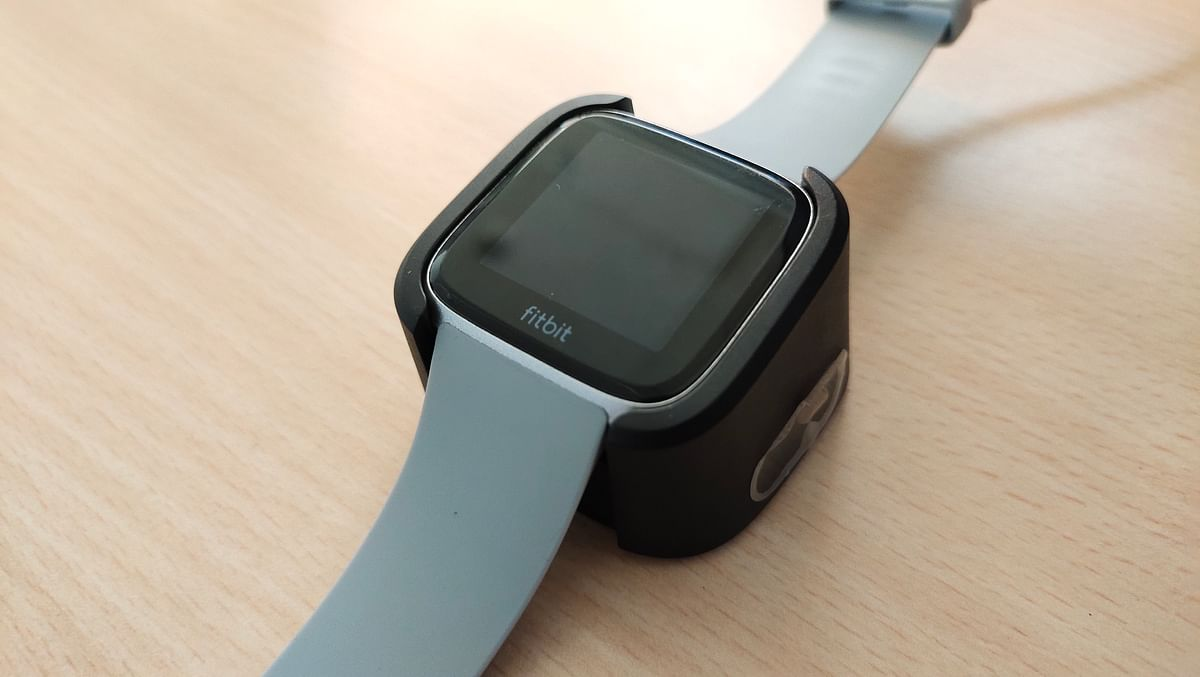 The Fitbit Versa comes with a clip-on charger in the box.
