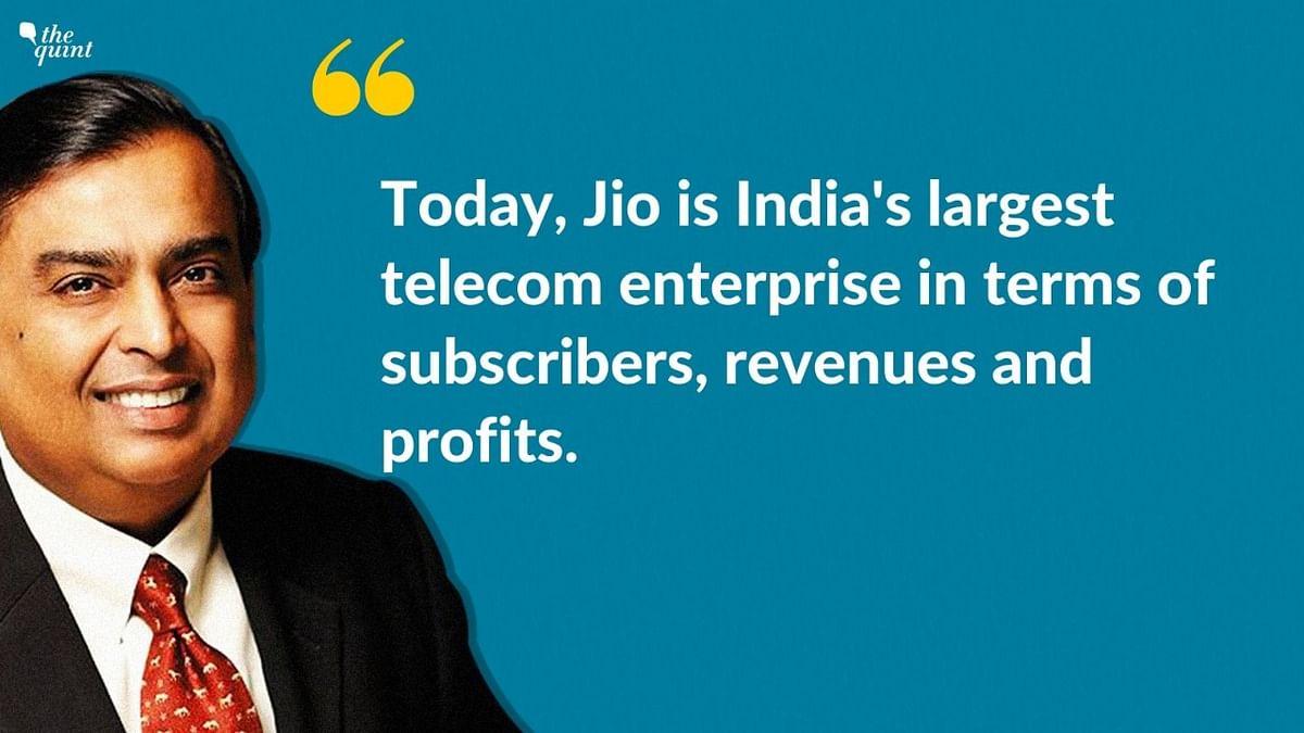 Mukesh Ambani, Chairman, Reliance Industries sharing the big news.