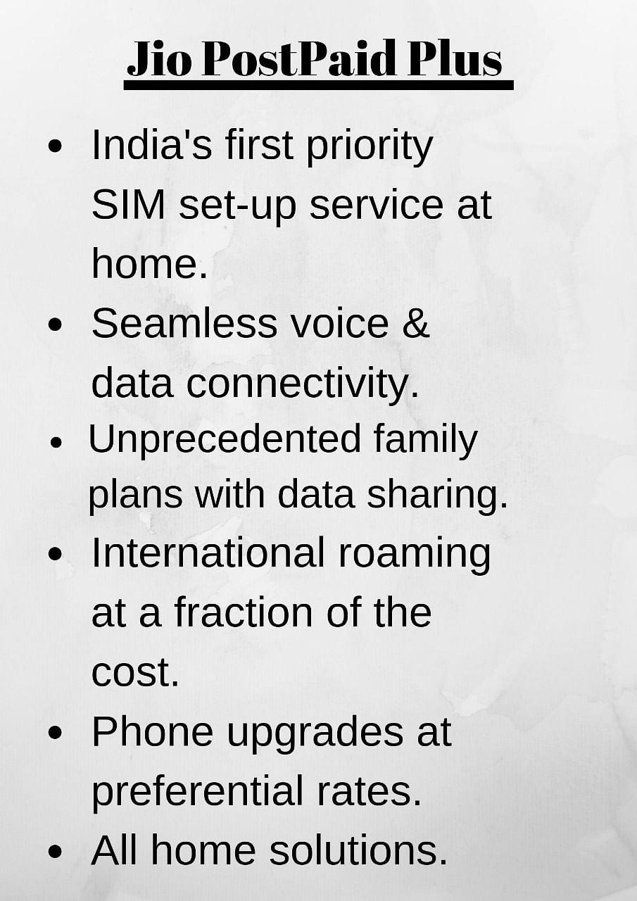 Everything you will get with Jio Postpaid Plus.