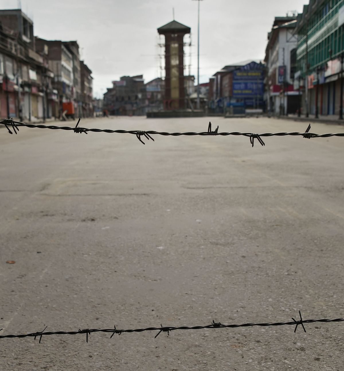 This picture of Srinagar's Lal Chowk by PTI conveys the complete lockdown in Kashmir