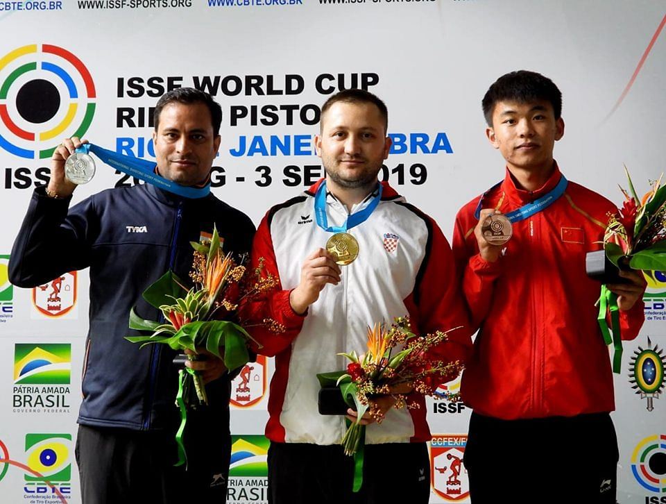 Sanjeev Rajput bagged a silver at the ISSF World Cup 2019.