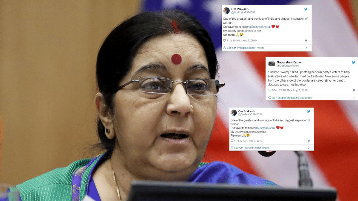'Dignified, Irreplaceable': Twitter Condoles Sushma Swaraj's Death