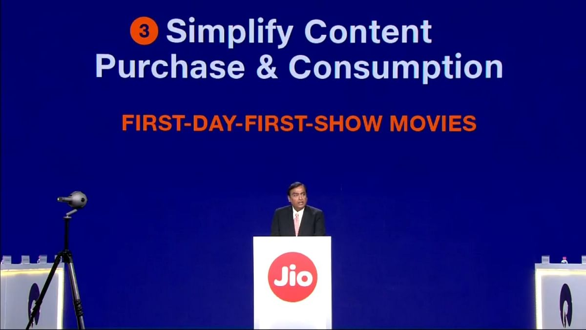First day, first show of movies on your TV screen with Jio Fiber.