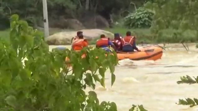At Least 4 Rescue Workers Washed Away In Karnataka Floods
