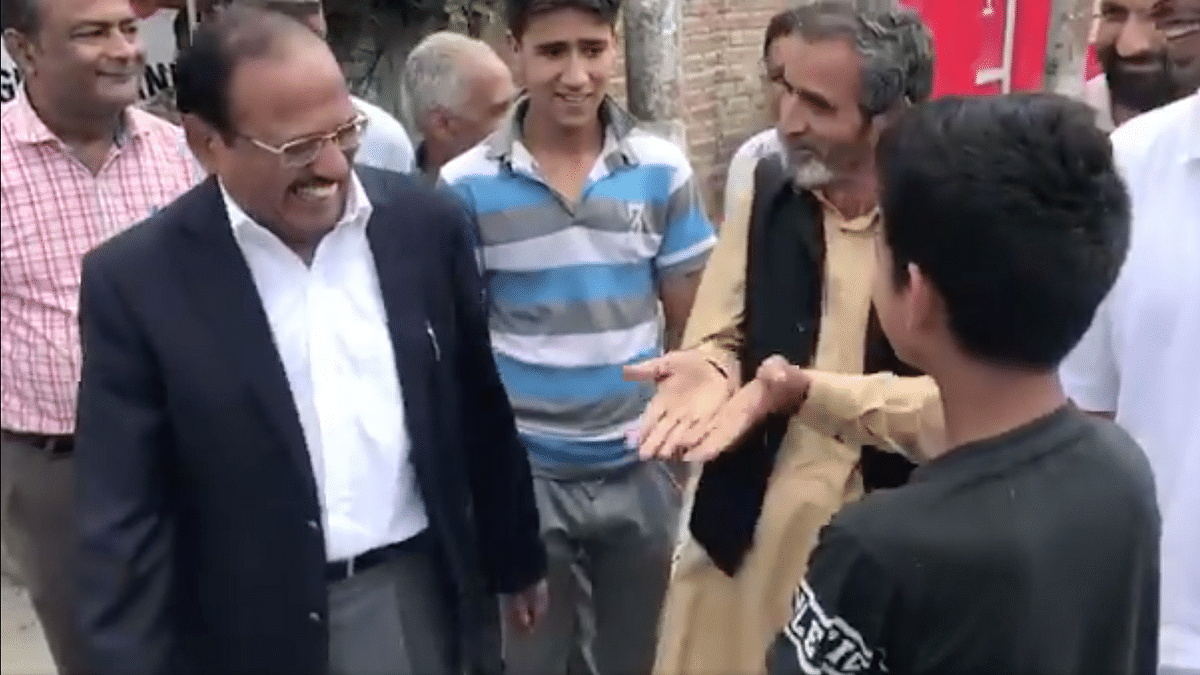 Watch: After Shopian, NSA  Doval Meets Locals in J&K's Anantnag