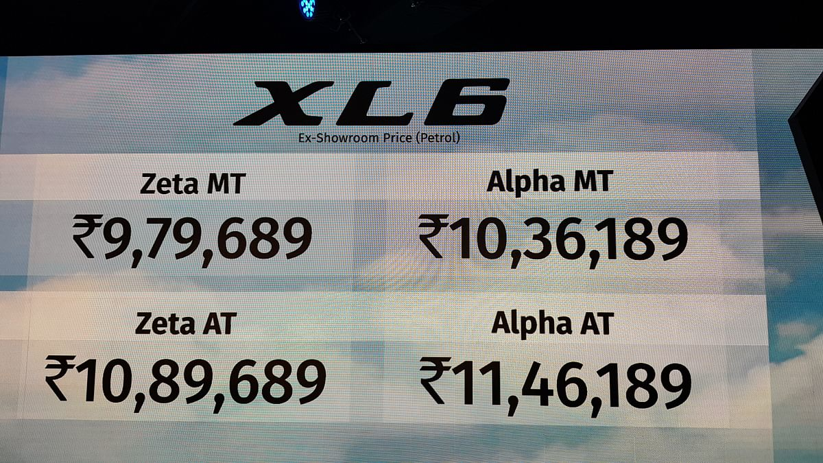 Prices of the Maruti Suzuki XL6.