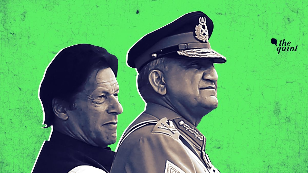 Image of Pakistan PM Imran Khan (L) and Army Chief General Bajwa (R) used for representational purposes.