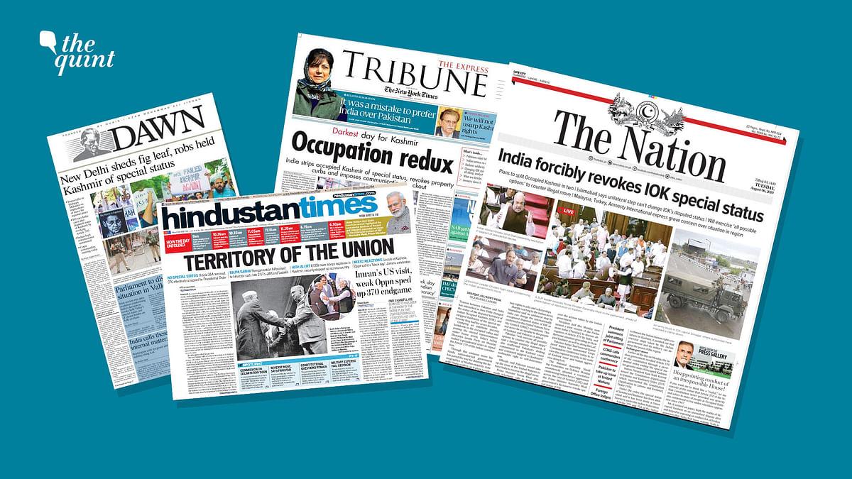 India vs Pak: Contrasting Media Coverage on Article 370, Kashmir