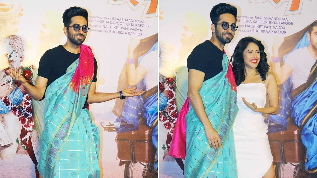 In Pics: Ayushmann Rocks the Saree at 'Dream Girl' Trailer Launch