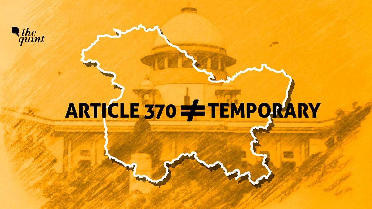 Stop With the Fake News, Article 370 Was NOT a Temporary Provision