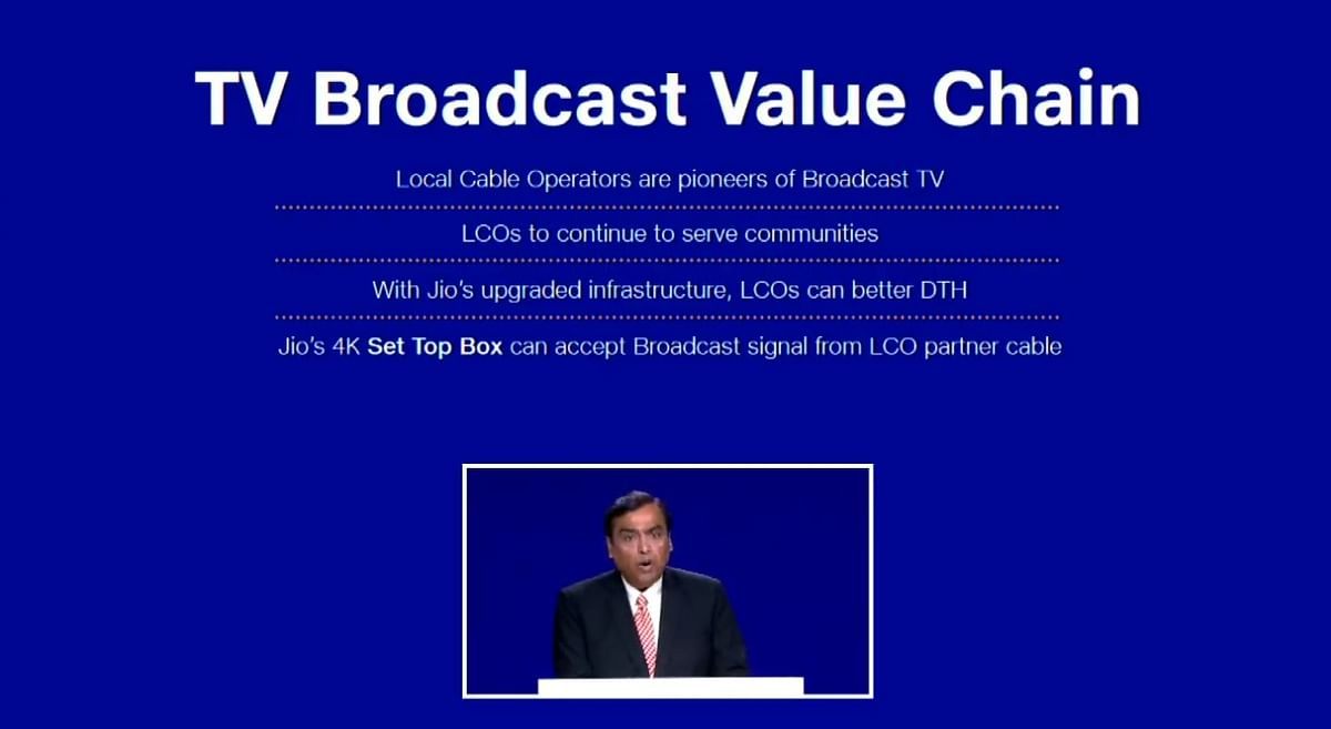 It's not just broadband, Jio will offer TV streaming service also.