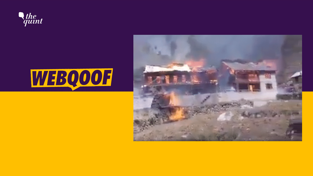 Did Indian Army Set Fire to Houses of Kashmiris? No, Claim is Fake