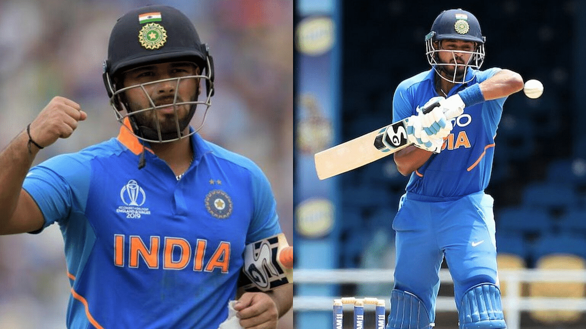 Shreyas Iyer (left) threw a strong challenge at Rishabh Pant for the number four position with a 68-ball 71 in the second ODI.