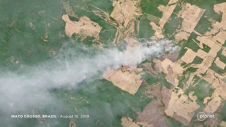 Satellite Images From Planet.com Show the Devastating Amazon Fires
