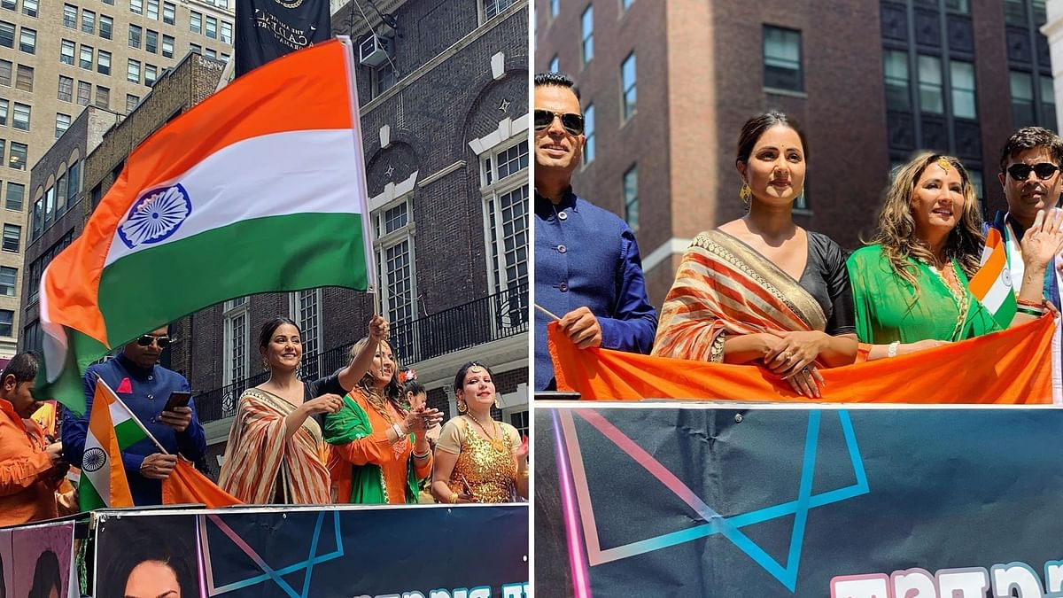 Hina Khan celebrates Independence Day in the US.